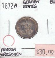 German States Prussia 1 Groschen 1872 A
