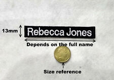 **CUSTOM** Personalised MINI FULL NAME KIDS Embroidery Sew on Patch Tag School