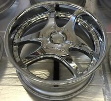 LOWENHART LSR 3pc 20 X 10 ET 43 5:112 Chrome  Made In Japan One Wheel Only