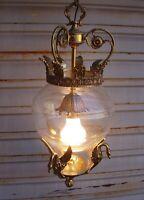 Superbe et importante lanterne aux cygnes en état de marche