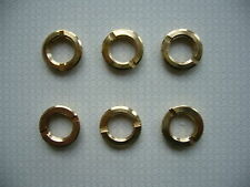 6X PROFESSIONAL BRASS ROUND FIXING NUTS FOR ANY OF MY 200X CLOCK MOVEMENTS