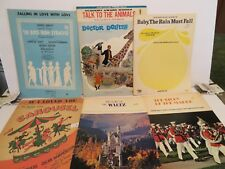 LOT 6 Sheet Music  DOCTOR DOOLITTLE  BOYS SYRACUSE BABY THE RAIN MARCH CAROUSEL