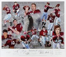 """Alabama Crimson Tide Autographed/Signed """"Quarterback U"""" Print - Stabler, Starr"""