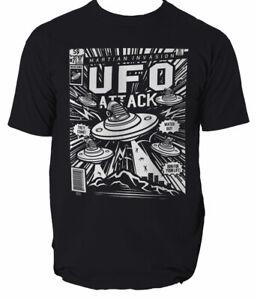 UFO ATTACK T Shirt MARTIAN INVASION MEN SIZE S-3XL