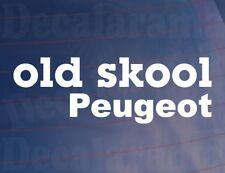 Old Skool PEUGEOT Novelty Classic Vintage car/Van/Window/Anti-Chocs Vinyle Autocollant