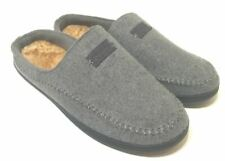 Zigzagger Men's Comfort Suede Fabric Memory Foam Slippers Plush - Size 11-12