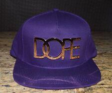 DOPE 24K Gold Logo Purple Snapback Cap NWT