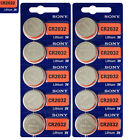 10 x SONY Lithium CR2032 batteries 3V Coin Cell DL2032 Remote Watch EXP:2025