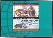 SINGAPORE 2003 GLOBAL CITY (COMMUNICATION & TECHNOLOGY) CREATIVE SOUVENIR SHEET