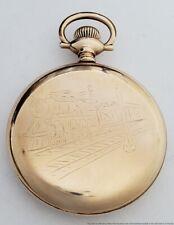 Hampden Watch Co. No. 105 21 Jewels Railroad Pocket Watch Antique Locomotive 135