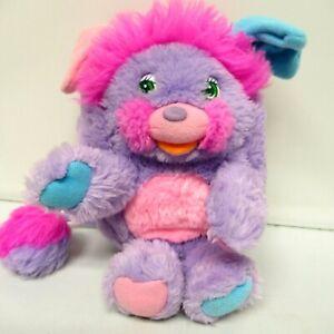 "POPPLES PRETTY BIT Purple 9"" Plush Vintage Stuffed Toy 1986 Collectible"