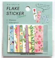 Love Kawaii Masking tape Flake Sticker 30 Flower Rose Tulip Pansy MADE IN JAPAN