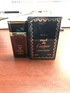 Must de Cartier Parfum 1.0 oz/30 ml, Classic Formula, Not Sealed, As Imaged