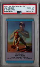1953 Brown & Bigelow Lou Gehrig 6 Of Hearts PSA 10 HS105