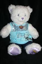 Build a Bear Hannah Montana Bear w/ Shirt and Jeans Plush Doll 18 necklace bling