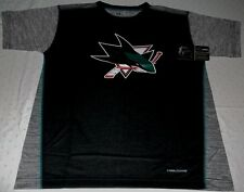 San Jose Sharks Crew Neck Cool Base Replica Jersey Shirt Youth Large NHL