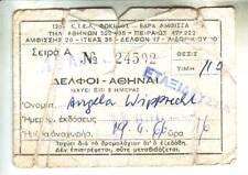 Ticket Fahrkarte Griechenland  - 1966   biglietto billet  Bus - Delphi-Athen