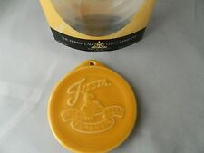 Fiesta Fiestaware Christmas Ornament Marigold New NIP marked 2011