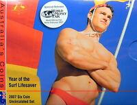 2007 AUSTRALIA MINT SET WORLD MONEY COIN FAIR BERLIN