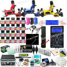Professional Rotary Tattoo Machine Kit 3 Gun New Design Power Box and Inks Set