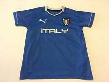 PUMA ITALY JERSEY BLUE COOL CELL POLYESTER BOYS YOUTH MEDIUM (M)