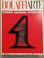 Rivista BolaffiArte n. 1 anno I 1970. Bolaffi Arte e Design. Anastatica