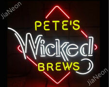 PETE'S WICKED BREWS REAL NEON SIGN Garage Shop Retro Beer Bar Light Free Shiping