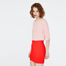 Maje Reggio Two Tone Dress Silk Top Pink Red size FR 3 US Large $470