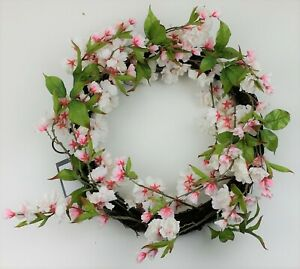 Threshold 18 in Artificial Cherry Blossom Wreath Pink/Green