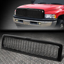FOR 94-02 DODGE RAM TRUCK GLOSSY HONEYCOMB MESH FRONT BUMPER GRILLE GRILL FRAME