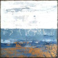 50x50cm Acrylbilder Leinwand Malerei A.Traub Kunst Gemälde abstrakt blau gold