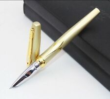 WATERMAN/PARKER  STYLE  GOLD FOUNTAIN PEN(FREE VELVET POUCH)