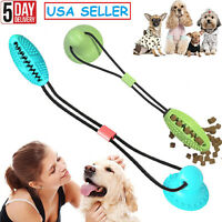 Dog Bite Toy with Suction Cup Pet Molar Bite Toys Durable Tugging Pull Rope Ball