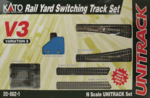 N Scale Kato V3 Rail Yard Switching Track Set