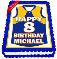 West Coast Eagles Football Guernsey Cake Topper Edible Icing Image Decoration