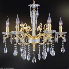 K9 Crystal Chandelier - 6 Light - Crystal Chandelier - Polished Gold - Amelia