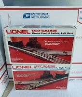 Lionel 6-65021;22 27 Gauge Left & Right Hand Manual Switches in Original Boxes