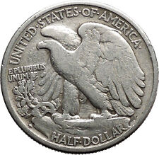 1942 WALKING LIBERTY Half Dollar Bald Eagle United States Silver Coin i44707