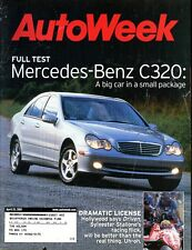AutoWeek Magazine April 23, 2001 Mercedes-Benz C320 a big car in a small package