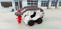 2016 Matchbox Drill Digger - MBX Construction -White w/red drill MB918 Die-cast