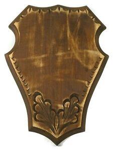 Wooden Trophy Shield Wood Carving Mounting Plaque For Roe Deer Stag,Horn Antler
