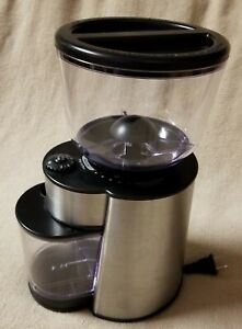MR. COFFEE Adjustable Grind BURR COFFEE BEAN GRINDER BVMC-BMH23 Stainless Steel