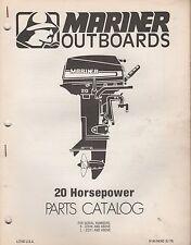 1979 MARINER OUTBOARD 20 HP PARTS MANUAL M-90-84393 (387)