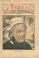 Portrait Veuve Bretonne Finistère Bretagne Eglise Plougastel-Daoulas  1935