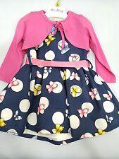 Vestitino neonata bimba 12 18 24 30 mesi alta moda alta qualità con farfalle