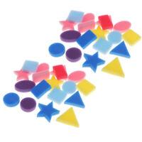 24 Pcs Sponge Painting Shape Kids Education Art Craft Tools Assorted Shaped