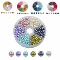 810pcs/Box Pearlized Glass Beads Faux Pearl Beads Round Mixed Color 4mm Beading