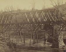 New 8x10 Civil War Photo - Military railroad bridge over Chattanooga Creek TN
