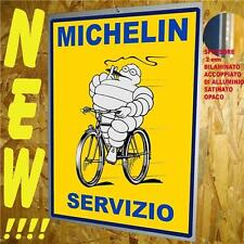 MICHELIN  BICI -TARGA IN METALLO cm 30X40 RIPROD. D'EPOCA