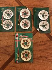 Lot 8 Vintage Christmas Candle (Rings) Wax Catchers